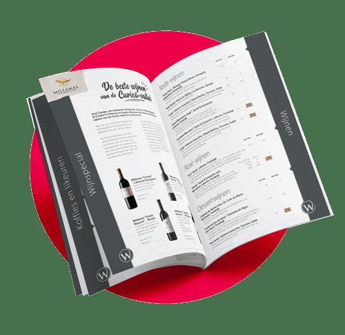 Horecadrukwerk, menukaarten, specials, print, afwerking Oldenzaal