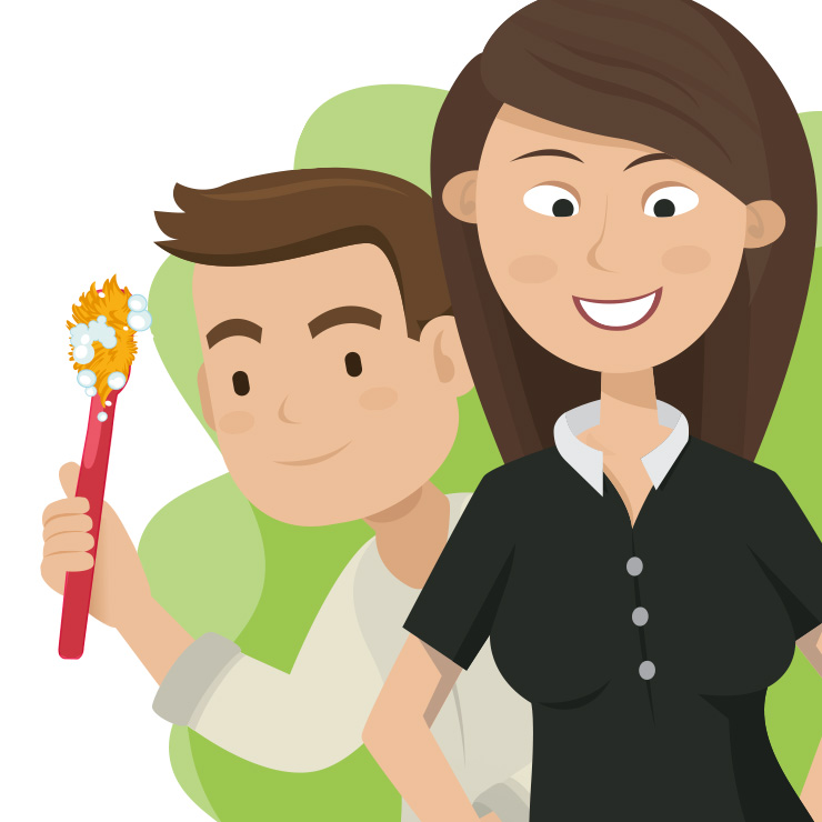 Vector design drawing | Digitaal tekenen voor personeelswerving campagne Denekamp - Visual personeels advertentie