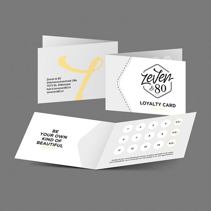 Zeven en 80 Oldenzaal loyalty cards | ontwerp, vormgeving / DTP van Slize | Druwkerk realisatie