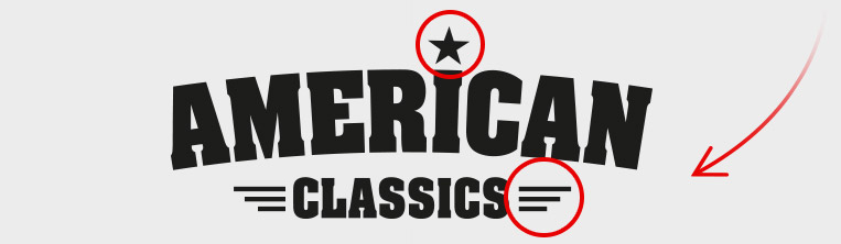logo ontwikkeling - stap 3 | American Classics Oldenzaal