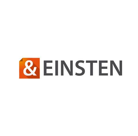 Logo creatie - & Einstein - Slize logo ontwikkeling voor Enschede, Denekamp, Oldenzaal, Losser, Almelo, Hengelo, Twente e.o.