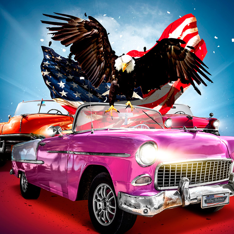 American Classics project - Flyers, posters, montage grafisch artwork & vormgeving