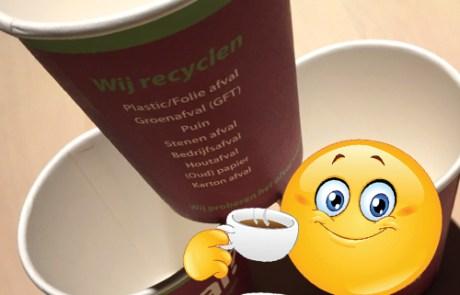 promotie drukwerk - koffiebekers bedrukken met logo - Oldenzaal, Enschede (Twente)