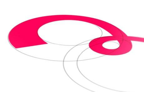 Logo creatie met behulp van cirkels en ronde vormen