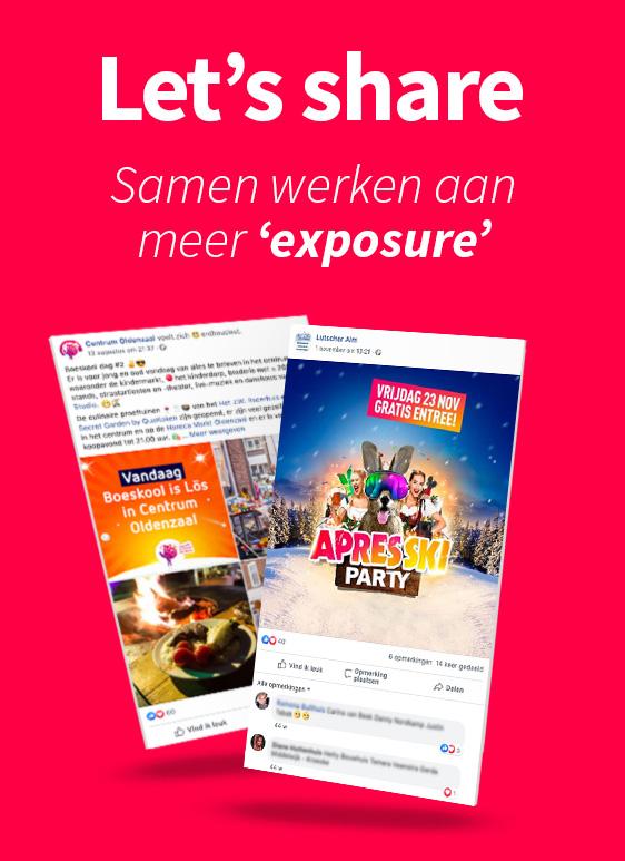 Social media posts ontwerpen - Reclamebureau Slize Oldenzaal - Let's share content