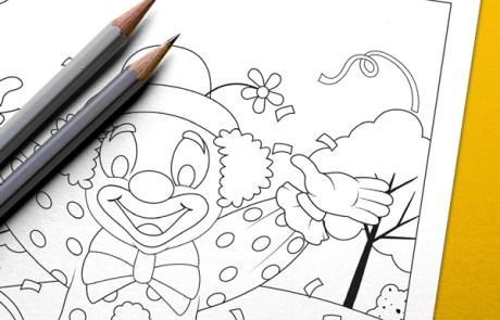Carnavals kleurplaat maken, illustratie voor de carnaval in Overdinkel