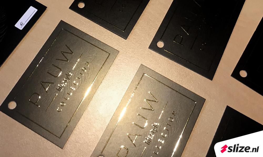 Slize Oldenzaal x drukwerk special - luxe afwerking met goud folie