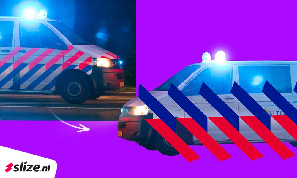 Project photoshop beeldmanipulatie - nieuwe politie striping plaatsen op voertuig