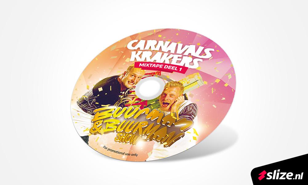 Grafisch ontwerpen CD. Vormgeving voor de Buurman en buurman show uit oldenzaal