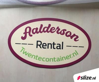Magneetstickers drukken met logo - Aalderson Rental Enschede