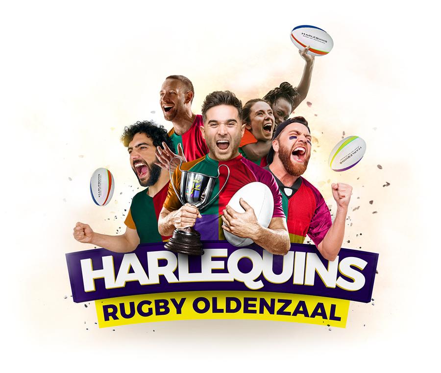 Harlequins Rugby Oldenzaal - Grafisch ontwerp en vormgeving van Slize