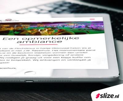 Tablet met responsive website ontwerp