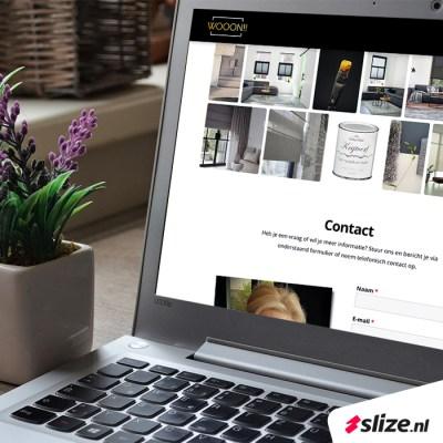 One page website maken - Wooon De Lutte x Slize Oldenzaal