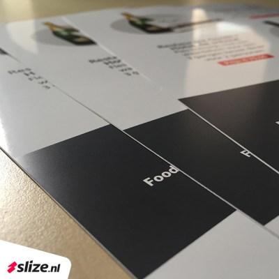 Glanzende foldertjes drukken. Drukwerk voor de Denekamp in Twente van Slize.nl