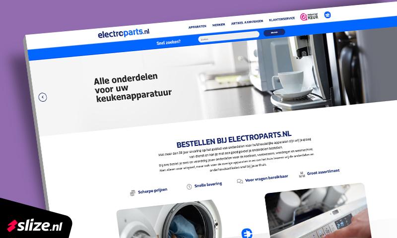 Webdesign Ridderkerk - Realisatie nieuwe website electroparts.nl met webshop