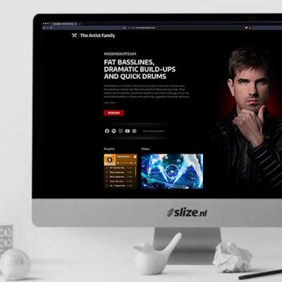 SZwarte website maken - Website ontwerp The Artist Family Oldenzaal