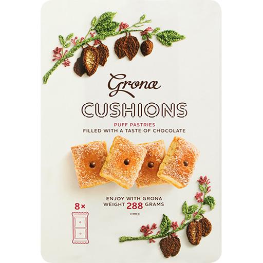 Grona Cushions puff Chocolate-PNG