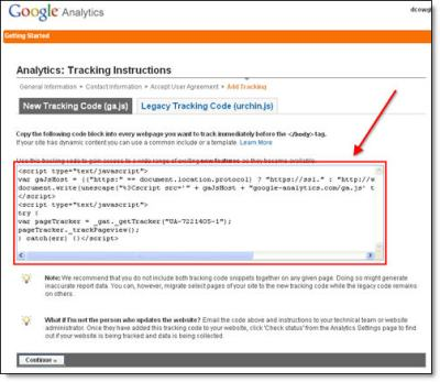 Google Analytics Blogger Step 5