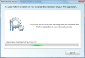 Finish installation of your web applications