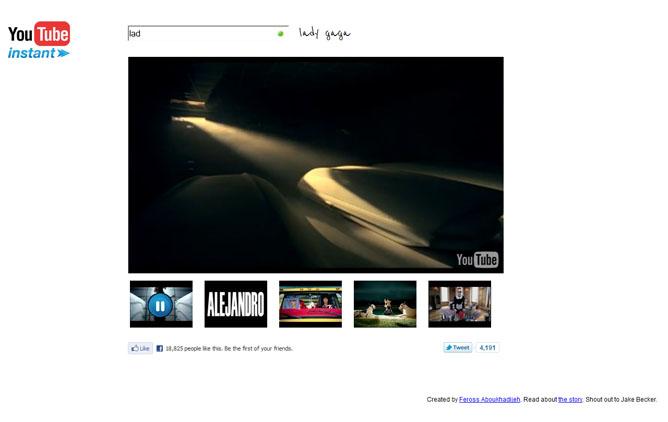 Youtube Instant