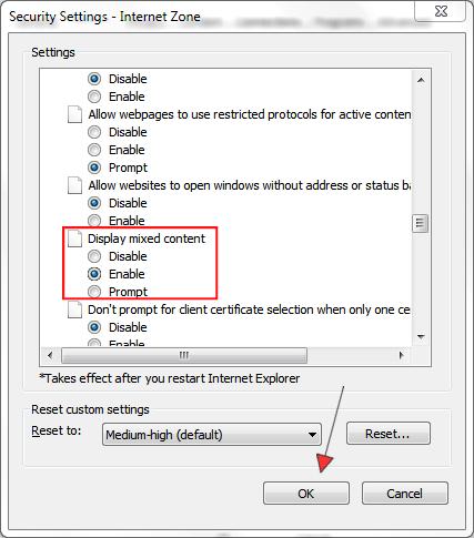 Internet Explorer podešavanje