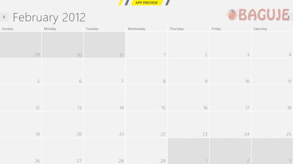 """Prikaz """"praznog"""" kalendara, još jedna metro aplikacija"""