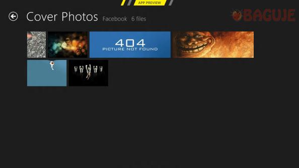 Photos - aplikacija za slike - Prikaz albuma sa Facebooka
