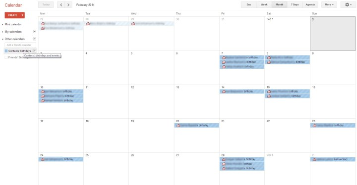 google fb kalendar