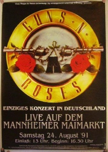 guns n roses concert poster decade designs