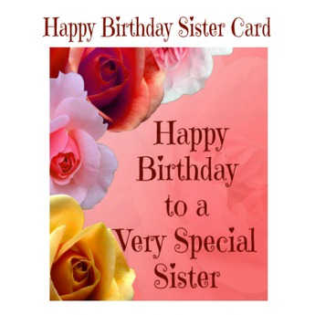 Second Life Marketplace Happy Birthday Sister Card