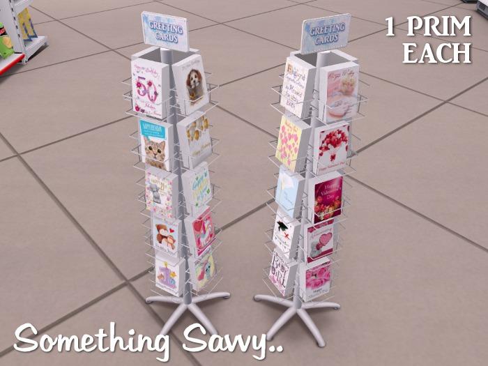 mesh greeting card display rack
