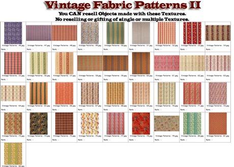 shabby chic vintage fabric patterns ii