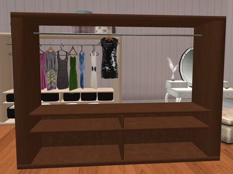 open dresser only 2 prim clothes rack