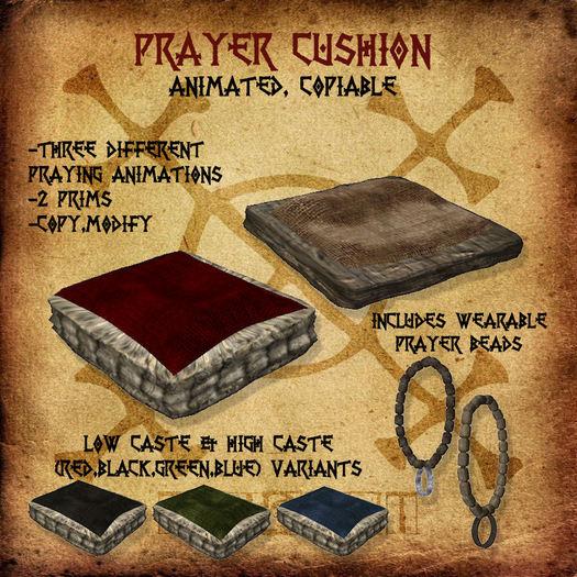 second life marketplace prayer cushion