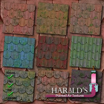 vintage clay roof tiles