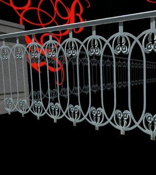 Second Life Marketplace Victorian Wrought Iron Fence Fence | Antique Handrails For Stairs | Antique Brass | Wood | Antique Green | Antique Furniture | Architectural Antiques