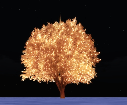 outdoor lighted holiday tree i