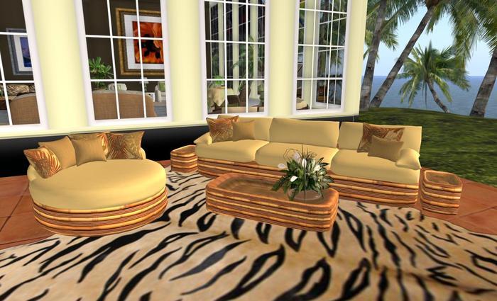 pale yellow bamboo patio furniture