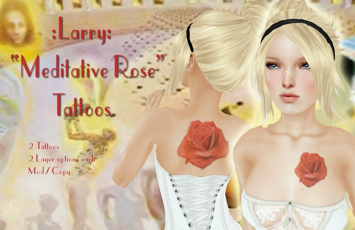 Second Life Marketplace Larry Meditative Rose Tattoos