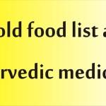 cold food list