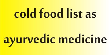 cold food list