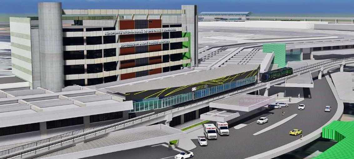 Aeromovel no aeroporto de Guarulhos