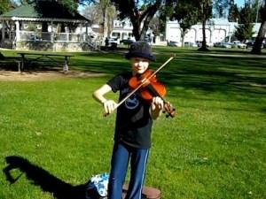 Amaya Plays at Farmers Market January 21, 2011