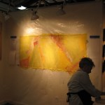 Lynn Kishiyama at Work in Her Studio 2/5/2011