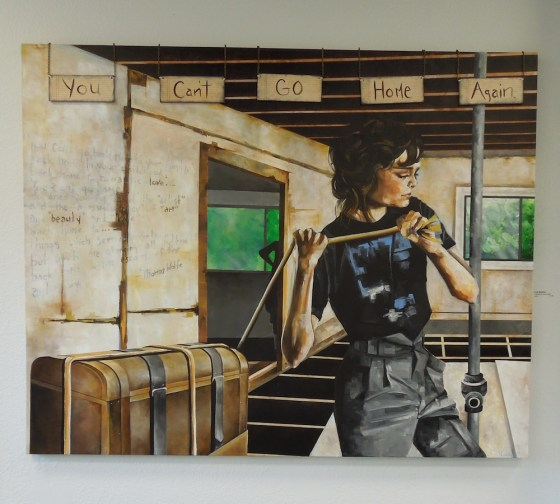"""Lena Rushing's """"You Can't Go Home Again"""" -- Acrylic on Canvas"""