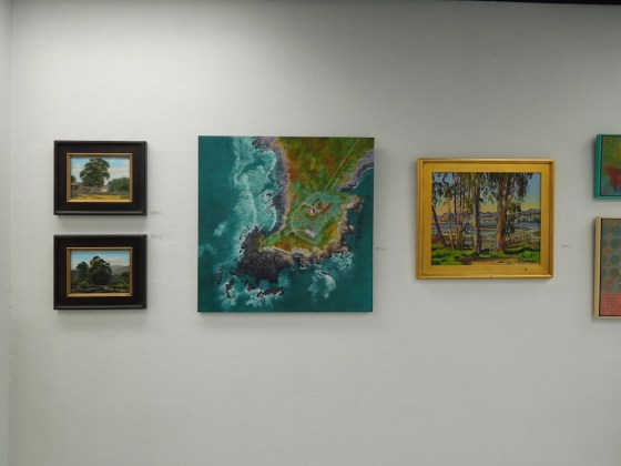 A Wall of Paintings at the First Phantom Project, San Luis Obispo