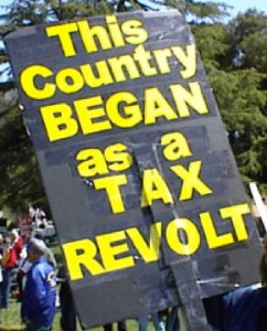 Tax Rally Sign