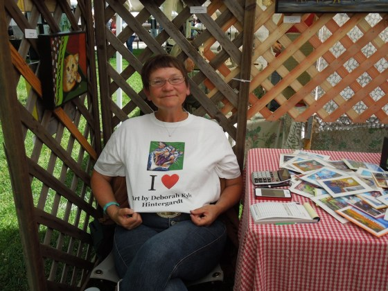 Deborah Kyle Hintergardt in her Booth at Day in the Shade, 2012