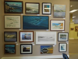 Another wall of paintings at Phantom 2 Gallery in Paso Robles