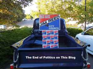 Truck Supporting Jim Reed for Paso Robles City Council
